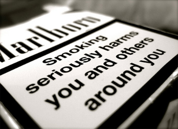 Do health warnings on cigarette packages work?
